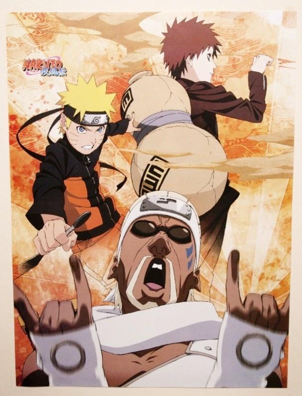 Naruto - Poster of Uzumaki Naruto and Gaara 42cmx57cm   myMzone