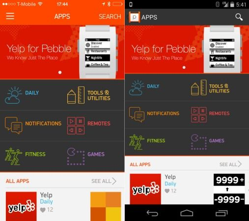 Pebble's smartwatch app store for iOS and Android arrives Monday