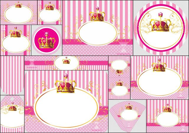 Queen or Princess Baby: Free Printable Party Kit. | Oh My Baby!