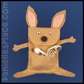 17 best ideas about kangaroo craft on pinterest letter k for Kangaroo puppet template