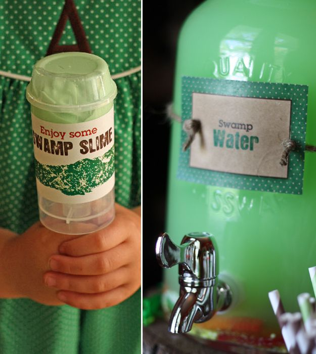 Fun favor idea - SLIME!!!! Magnolia Creative Co.: Bayou Bash First Birthday Party