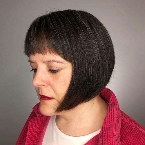 20 age-appropriate hairstyles with bangs for older women