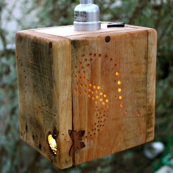 Wooden lamp/projector