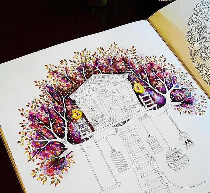 Treehouse Secret Garden Casa Da Arvore Jardim Secreto Johanna Basford