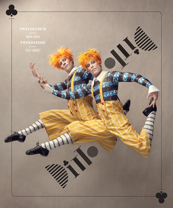 .The twin brother would dress up like these two brothers for the my Alice in Wonderland.