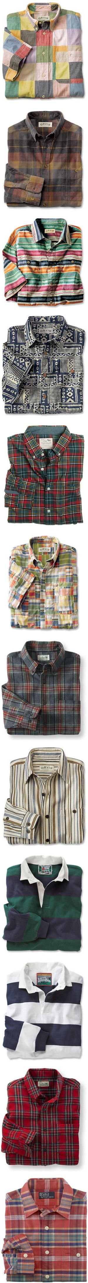 Shirts folded by mam-ka on Polyvore featuring striped, shirts, tartan, Checked, outer, tops, blouses, indian blouse, cotton blouse and madras shirt