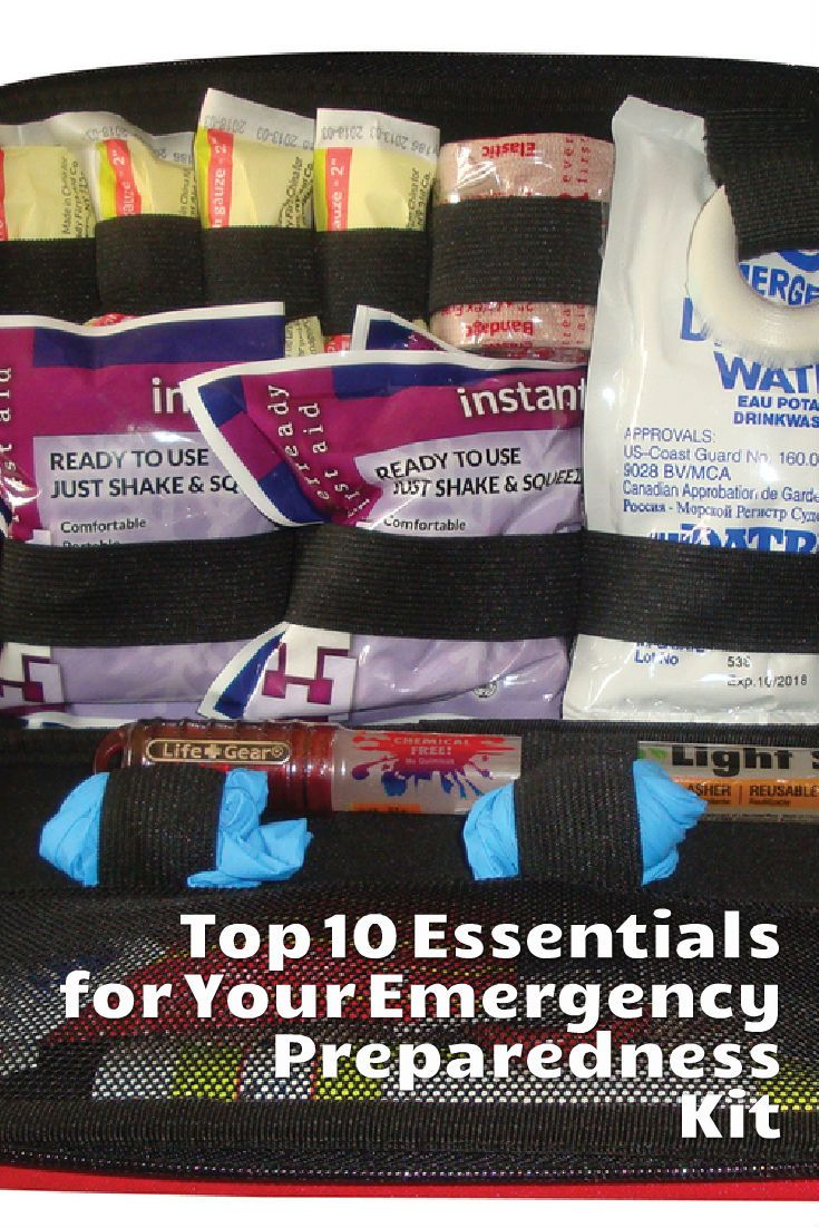 1.T3 Tactical Auto Rescue Tool  2.Nitrile gloves  3.Bottled water  4.Assortment of adhesive bandages  5.Latex elastic bandage  6.Antibiotic ointment and/or alcohol wipes  7.Tweezers  8.Gauze  9.Light (flashlight, glow sticks)  10.Instant ice pack