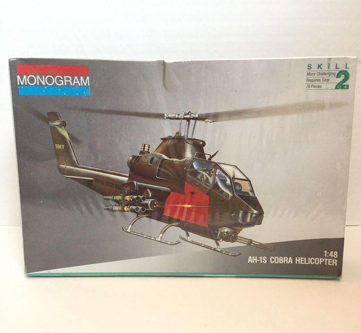 Monogram 1/48 Scale AH-1S Cobra Attack Helicopter Plastic Model Kit No 5444 #Monogram