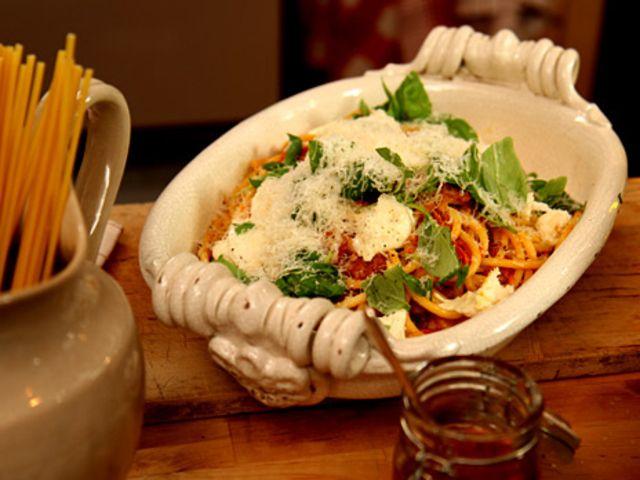 Leilas pasta med bacon (kock Leila Lindholm)
