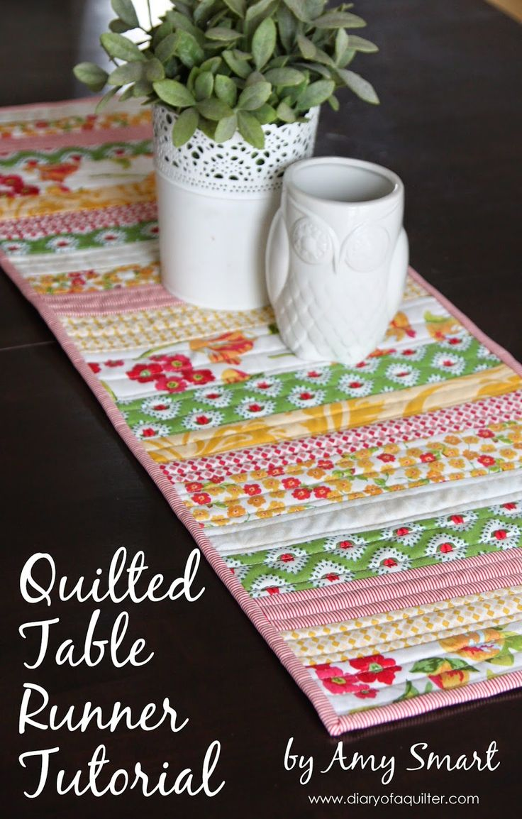 Diary Of A Quilter   A Quilt Blog: Easy Quilted Table Runner
