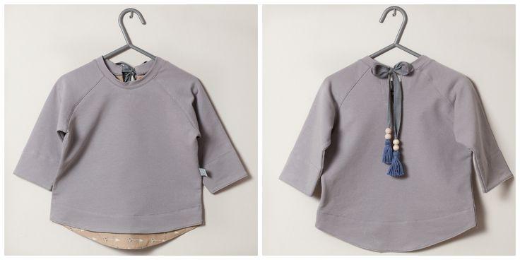 Tahki blouse in gray