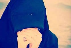 Hijab girl hiding face picture for Facebook