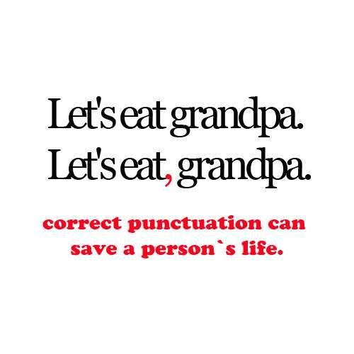 """Ahh..the """"art"""" of correct grammar & punction is quickly becoming lost!!!!!"""