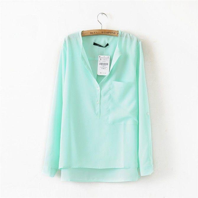 Найти ещё Блузки и рубашки Сведения о 2015 горячая распродажа женская мода летний стиль Большой размер рубашки ближний хем зеленая блузка с передний карман свободного покроя топ Blusas Femininas, высокое качество блузку блестками, Китай блузка мужчин поставщиков, Бюджетный майка jack из S&Z Fashion Online Store на Aliexpress.com