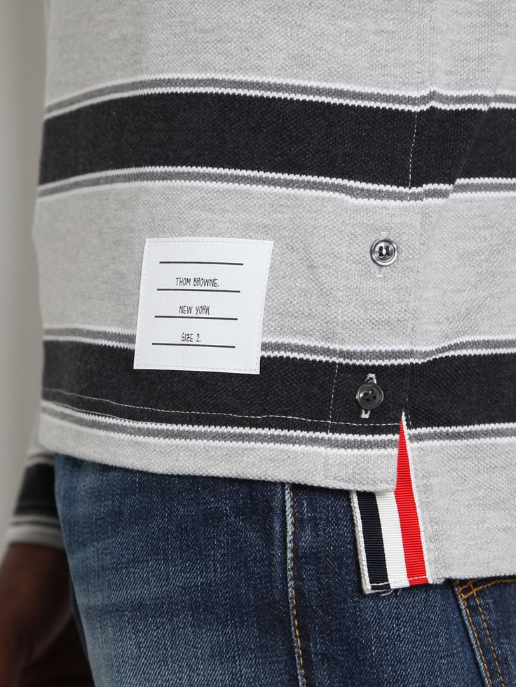 Thom Browne-woven label, side vent detail