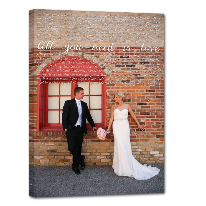 Wedding Portrait And First Dance Song Lyrics Love This Idea Canvas
