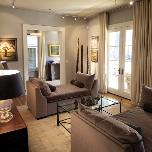 Living Room Painting Examples: Track Lighting In Living Room, Settees