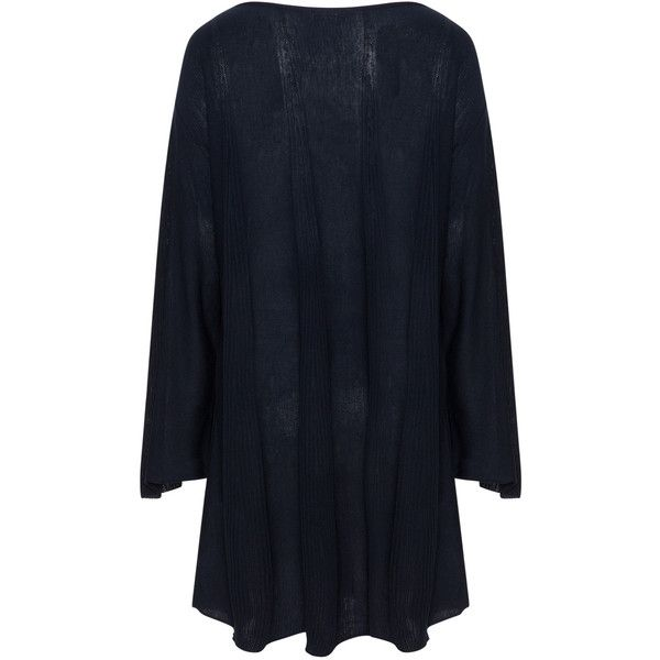 Mat Dark-Blue Plus Size Lightweight oversized jumper ($72) ❤ liked on Polyvore featuring tops, sweaters, plus size, lightweight sweaters, dark blue sweater, bell sleeve sweater, oversized sweater and plus size jumpers