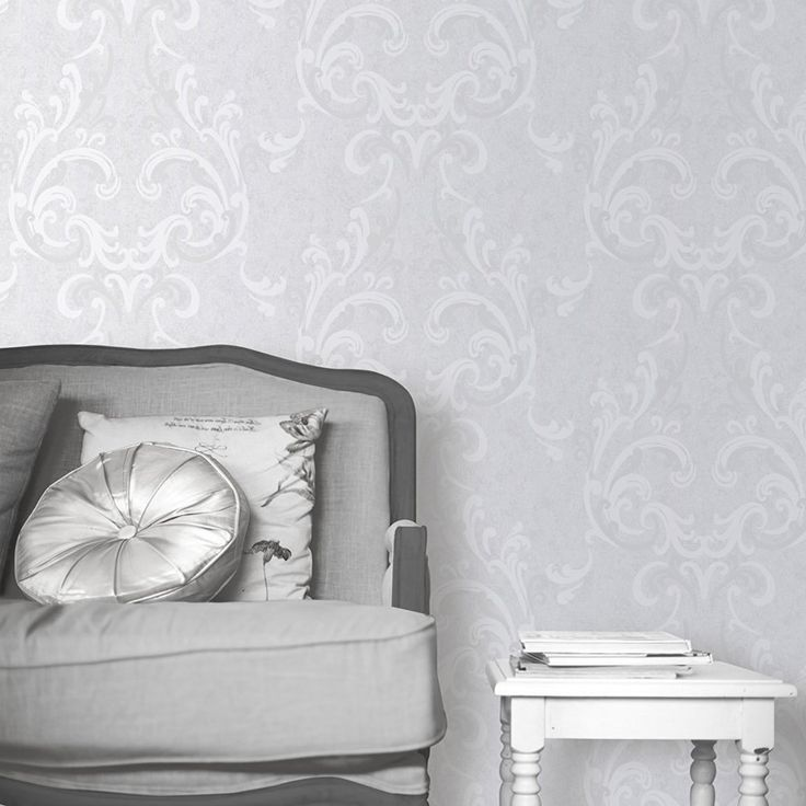 Muriva 136503 Juliette Wallpaper Roll - Silver: Amazon.co.uk: DIY & Tools