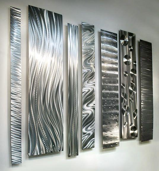 Tous les mur métal moderne argent naturel par JonAllenMetalArt
