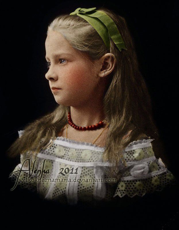 Princess Zinaida Yussupova, who would grow up to be one of the most beautiful women of Imperial Russia.