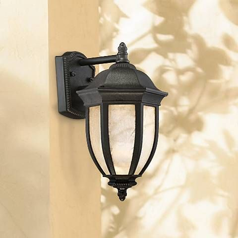 "Millstone 14"" High Textured Charcoal LED Outdoor Wall Light"