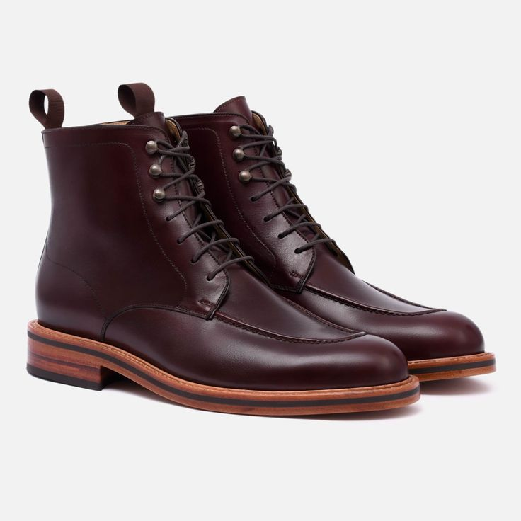 Gallagher Boot - Calfskin Leather - Bordeaux