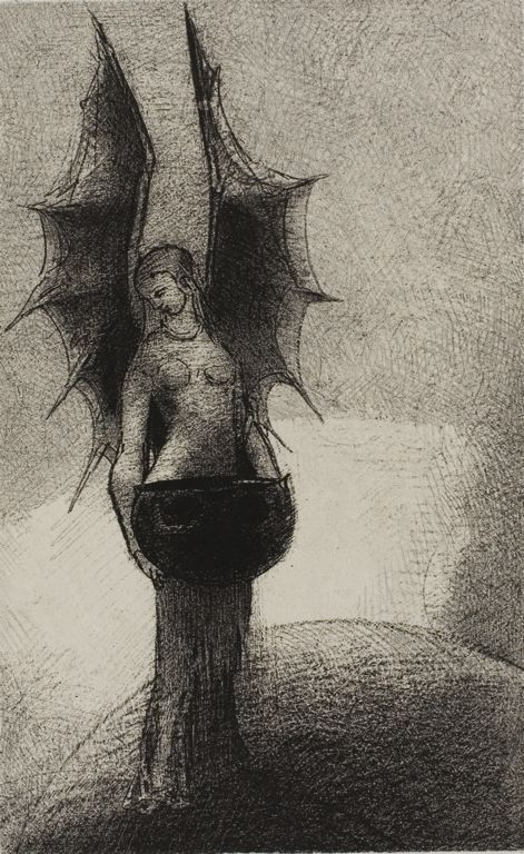 Odilon Redon - Frontispiece from Iwan Gilkin's Les Ténèbres