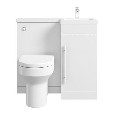 MySpace White right handed unit with Oakley back to wall toilet | VictoriaPlum.com