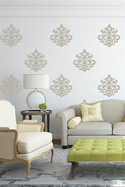I just discovered some really cool wall art @walltat. It's do-it-yourself wall decals for kids and adults.  Check it out! #walltat, #DIY, #interiors Damask Vintage Wall Decals #walldecals, #walltat