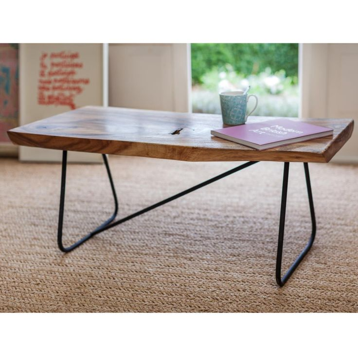 Dual Purpose Bench Or Coffee Table Made From One Piece Of Monkey Pod Wood With Sturdy