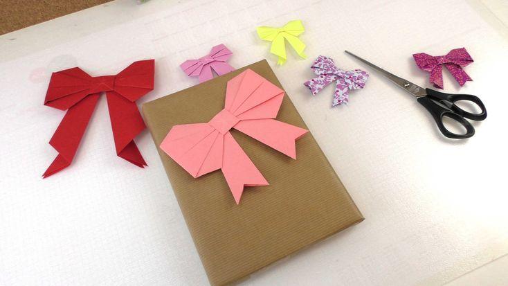 Origami Schleife falten deutsche Anleitung - für  Geschenke - cute Bow Tutorial
