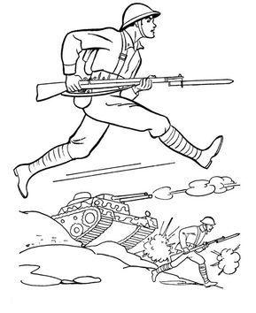 Okul öncesi 18 Mart çanakkale Zaferi Boyama Sayfaları Asker