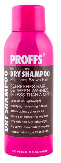 Сухой шампунь для темных волос 3 в 1, 150 мл PROFFS Сухой шампунь для темных…