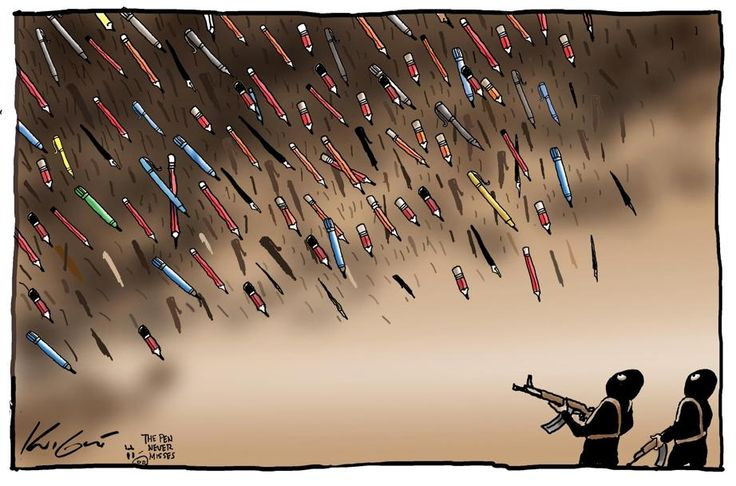 Brilliant RT @theheraldsun: @Knightcartoons has returned from holidays with a #CharlieHebdo tribute  #JeSuisCharlie