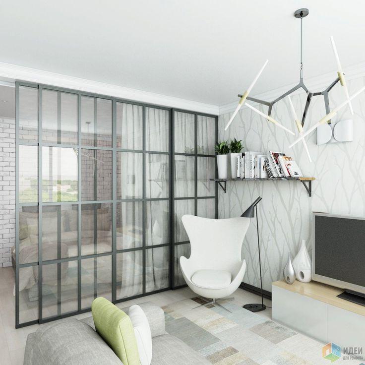 Фотографии: Однокомнатная квартира в скандинавском стиле, зонирование пространства в однокомнатной квартире, дизайн квартиры в скандинавском стиле,