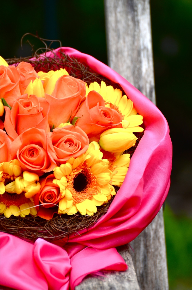 pink ,yellow , orange works well if the balance is right