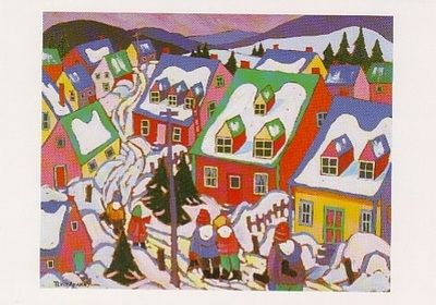 UNICEF Christmas card featuring the art of Terry Ananny