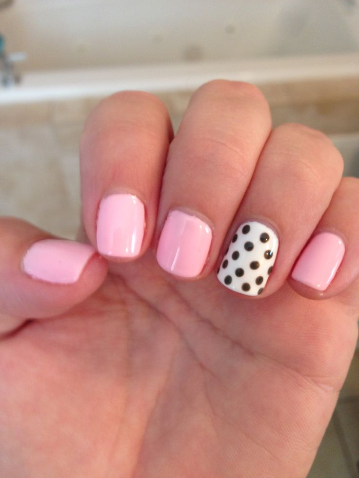 Shellac nails 28 light pink cute nails toes - Cute nail polish designs to do at home ...