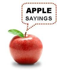 Apple sayings