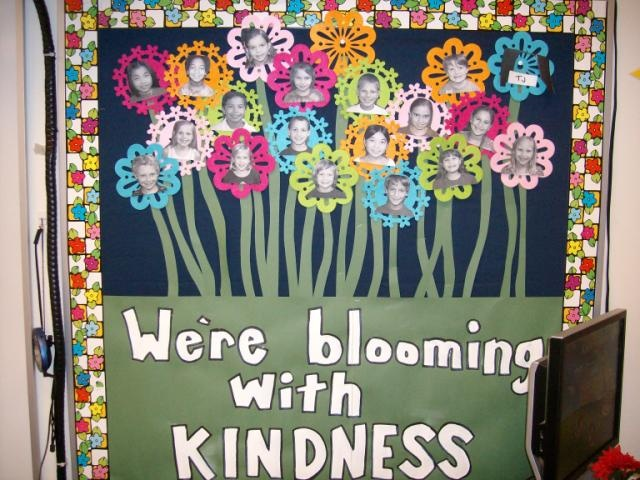 blooming with kindness bulletin board