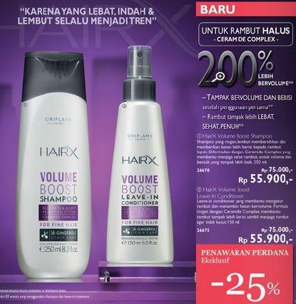 HairX Shampoo n Conditioner utk rambut halus