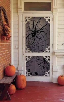 tangled web lace panel: Tangled Web, Halloween Decor, Web Lace, Storms Doors, Front Doors, Screens Doors, Halloween Doors, Lace Panels, Spiders Web