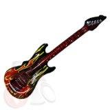 Aufblasbare Gitarre Luftgitarre Airguitar Flammen