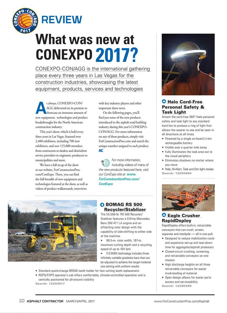 What was new at CONEXPO 2017? - Asphalt Contractor - March 2017