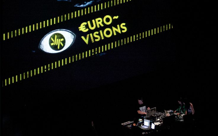 €urovisions: Looking at Europe from the migrant's perspective. 8-4-13 Spanish premiere of our expanded documentary performance in Sevilla at ZEMOS98 Festival.