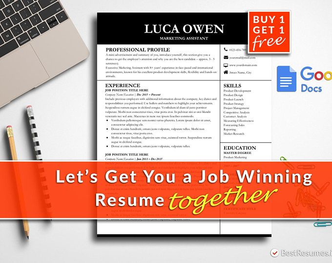 Modern Resume Template Google Docs Resume Template Instant Download