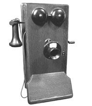 The telephone, invented by Alexander Graham Bell