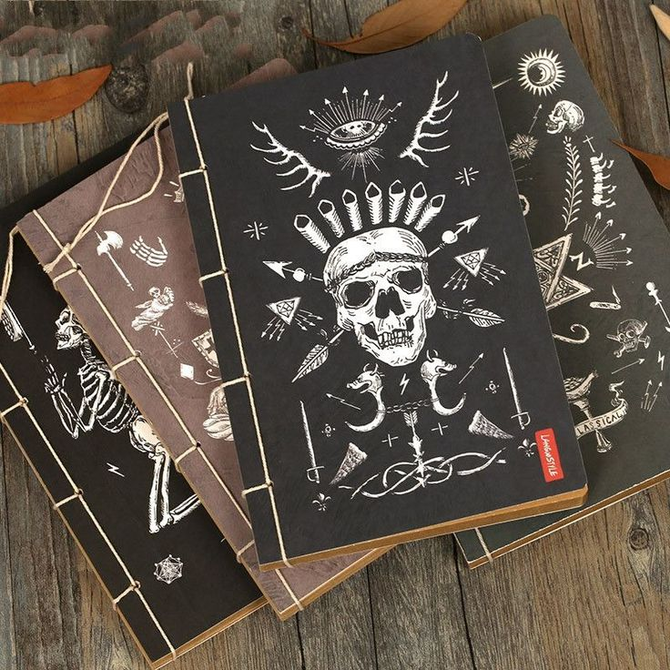 Amazing Cheap Book Bags With Laptop Holder, Buy Quality Book Shelve Directly From  China Book Silk Suppliers: New Practical Gothic Style Notebook Vintage  Paper Skull ...