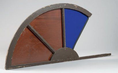 Pierre BURAGLIO SANS TITRE, 1997 Fenêtre en bois, verre coloré et